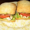 Grilled Chicken Sandwich with Alfalfa Sprouts