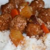 Cranberry Glazed Meatballs and Rice