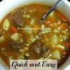 Quick and Easy Beef Stew Soup